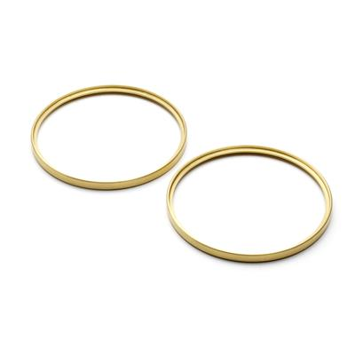 Brass Turn Light Bezels - Pair