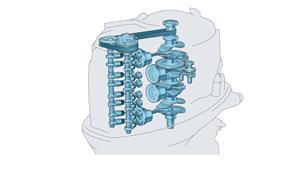 4-цилиндровый двигатель рабочим объёмом 2,8 л